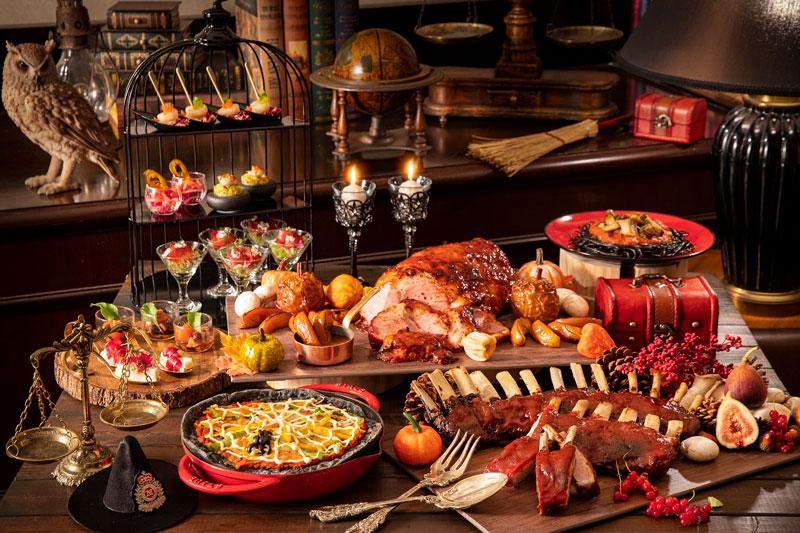 ハニーグレーズハムなど10種類のお食事