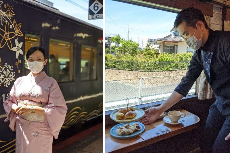 観光列車「〇〇のはなし」車内サービス