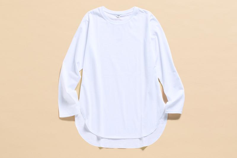 コットンロングシャツテールT(長袖)