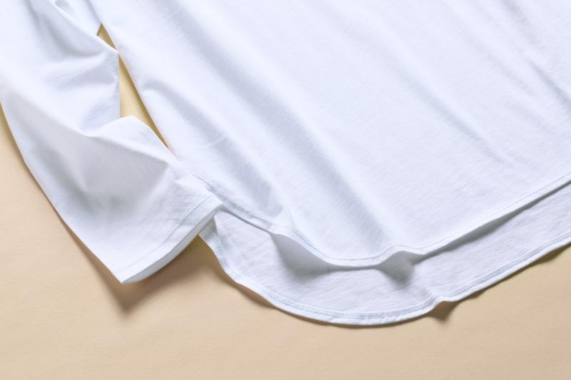 コットンロングシャツテールT(長袖)のテール部分