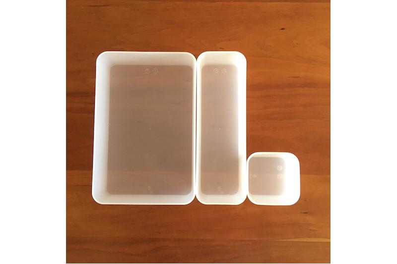 無印良品のポリプロピレン整理ボックスの3サイズ