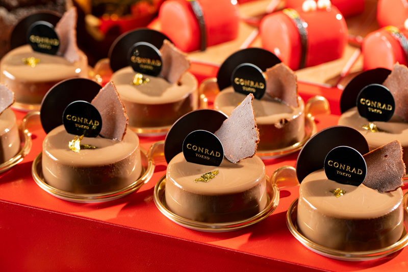 紅茶とミルクチョコレートのムース ラズベリージャム