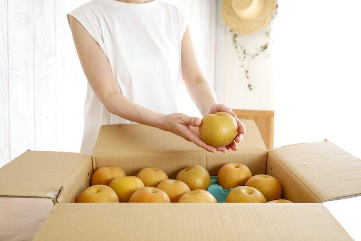 プロが教えるおいしい梨の見極め方|箱で買うと逆さ向きに入っている理由とは?